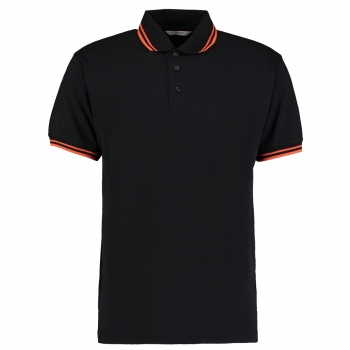 Dartshirt  Polo Shirt Kustom Kit KK409 Schwarz Orange XXXL