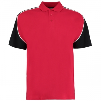 Dartshirt Polo Shirt Kustom Kit KK611 Red Black Size XXL
