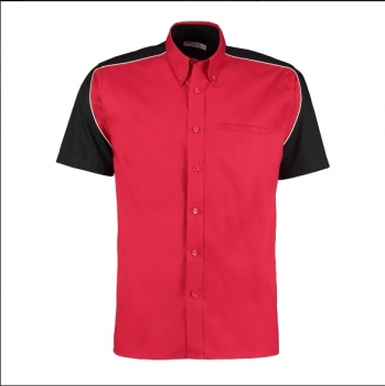 Kustom Kit Shirt KK186 Red Black Size XXL