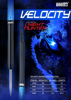Night Hunter Velocity Softip 18 Gamm Barrelgewicht