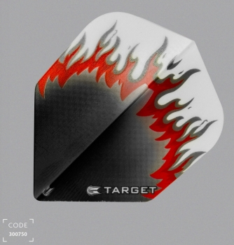 Target Vision Black/Red Flame Flights No6