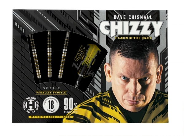 Dave Chisnall Chizzy Harrows Soft Darts 90% 18g