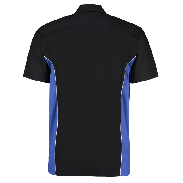 TEAM SHIRT Kustom Kit Dart Shirt KK185 Black/Blue Size XXL