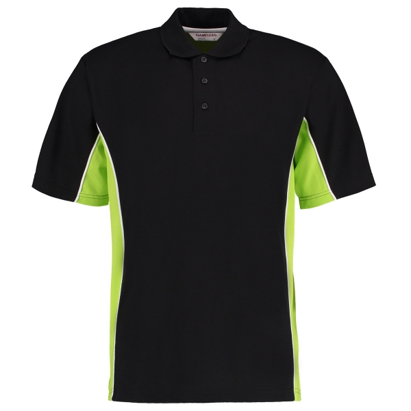 Dartshirt Polo Shirt Kustom Kit KK606 Black Lime Size XL