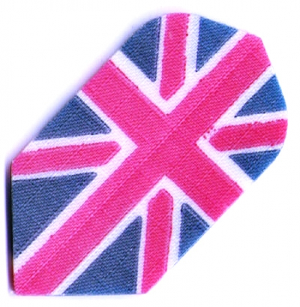 Nylon Long Life Stoff Flights Motiv slim schmal Union Jack
