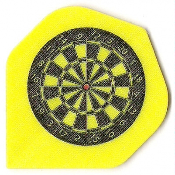 Nylon Long Life Stoff Flights Gelbes Dartboard