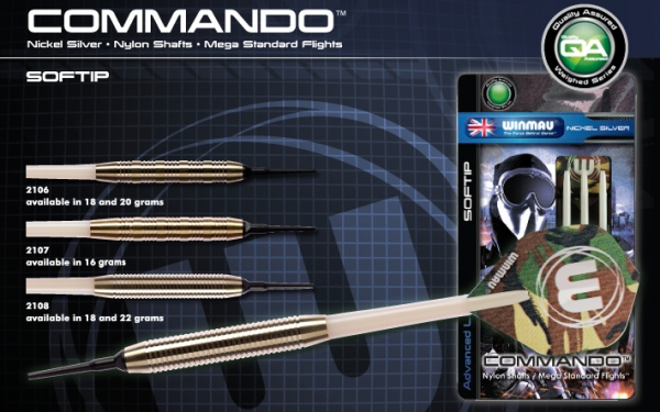 Winmau Commando Softdart 20 Gramm
